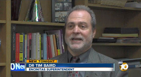 "Encinitas Union School District Superintendent Dr. Timothy Baird talks about auctioning off the Pacific View site to the highest bidder on March 25. ""There comes a time when we have to monetize this asset,"" he says in this KGTV 10 News report. Click here for the complete 10 News story about the fight to Save Pacific View, and tonight's final chance to address Baird and the school board before the auction."