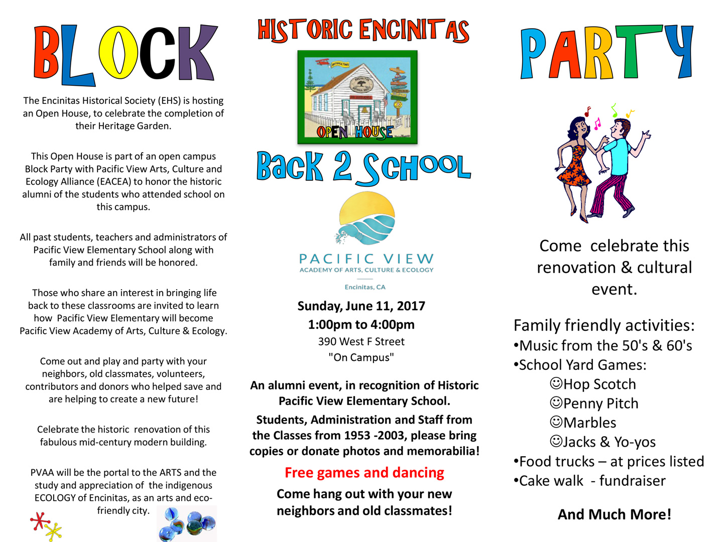 Pacific View alumni and supporters invited to Block Party